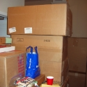 The work and boxes pile up...