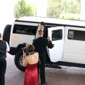 Kerry exits the limo