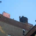 New York's Bravest on the roof confirming the fire is out.