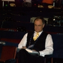 Coach Brian Billick (formerly of the Ravens), now an announcer for the NFL network prepares for the day
