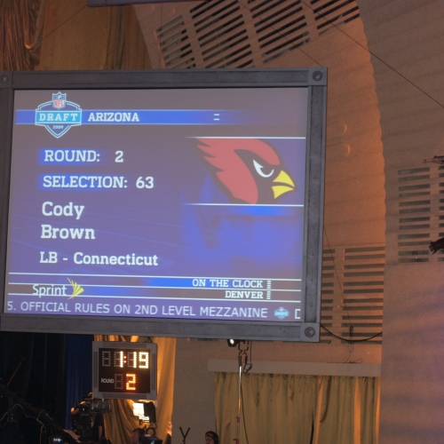 The Cardinals made the second-to-last pick of the night