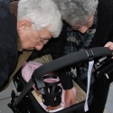 Grandma and Grandpa clean out the stroller