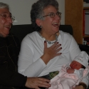 Grandma Helen and Grandpa Howie with Sara