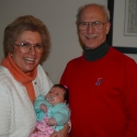 Bubbie and Grandpa with Sara