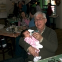 Grandpa Howie with Sara at Brunch