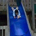 Nikki on the slide