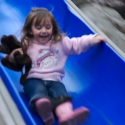 Isa on the slide