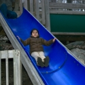 Ashna enjoys the slide