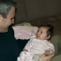 Daddy and Sara playing together