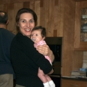 Mommy and Sara in Bubbie's kitchen