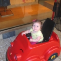 In her sweet ride!