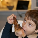 Cousin Max and his tasty turkey leg