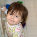 Playing in the bathroom!