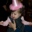 The birthday girl and her special hat!