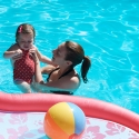 Mommy and Sara in the pool