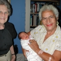 Great-Grandma and Great-Great-Aunt Bob adore the baby
