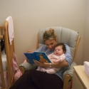 Aunt Ursula reads to Sara